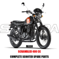 MASH SCRAMBLER 400 CC BODY KIT ENGINE PARTS ORIGINAL SPARE PARTS
