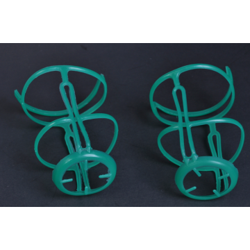 stereoscopic plastic hanger for glass bottle