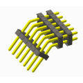2.54mm pin header triple plastic bent 130 degree