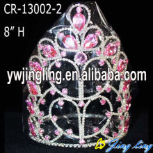 Flower Shape Chunky Rhinestone Pageant Crowns