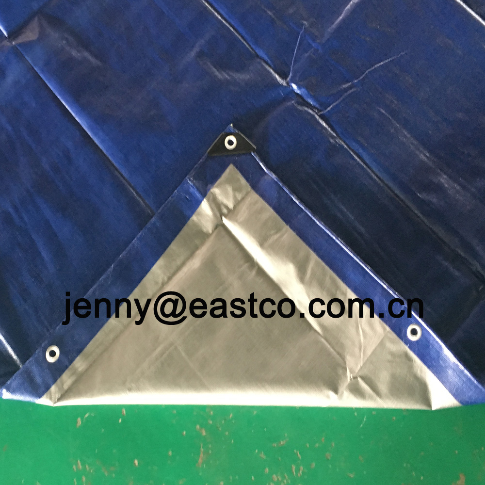UV Blue Silver Tarpaulin Boat Covers