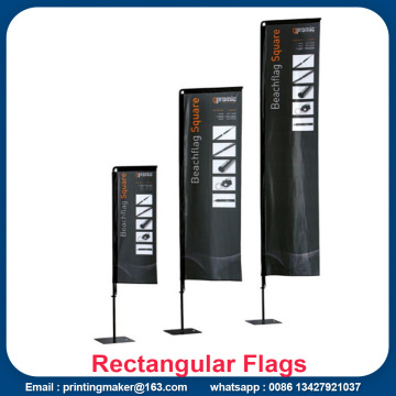 Custom Advertising Flying Rectangular Beach Flags