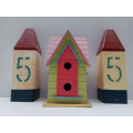 Villa Style More Door Wooden Bird House