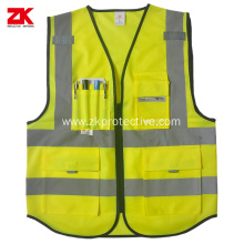 EN ISO 20471 Multi-functional pockets warning vest
