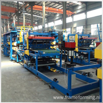 eps rock wool insulated roof panel machine