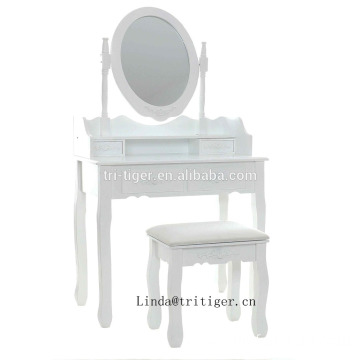 Plywood MDF dressing table set with mirror makeup vanity table wholesale
