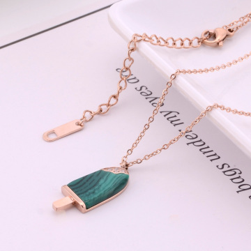 Custom 16 Inch Rose Gold Ice Cream Necklace