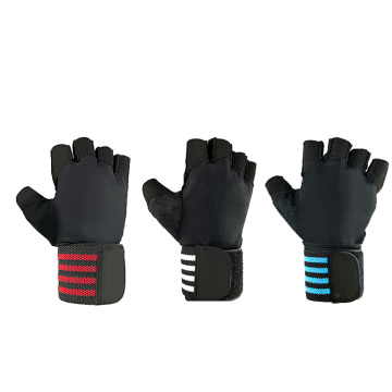Sports fitness half-finger mesh gloves
