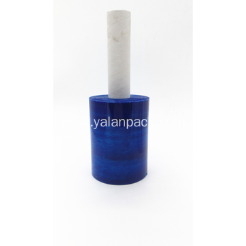 Blue color translucent stretch wrap film roll