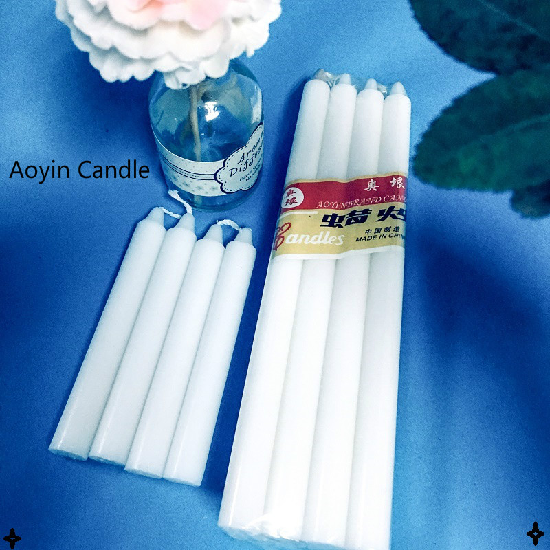 candle 23g white bougie for Africa market