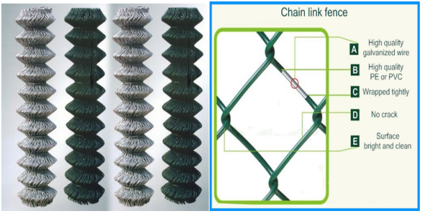 Removable Vinyl Coated Chain Link Fence