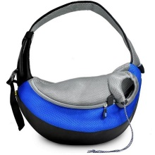 Blue XLarge PVC and Mesh Pet Sling