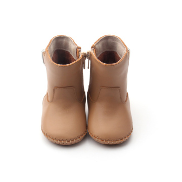 Brown Thigh High Infant Winter Baby Boots