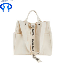 Custom letter canvas bag lady's shoulder bag