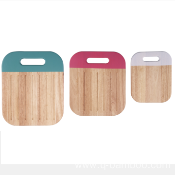 Square rubber wood bread cutting board