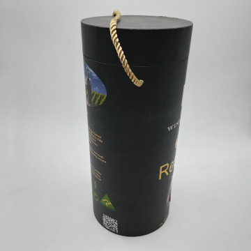 Security Paper Wine Cylinder Packaging Box