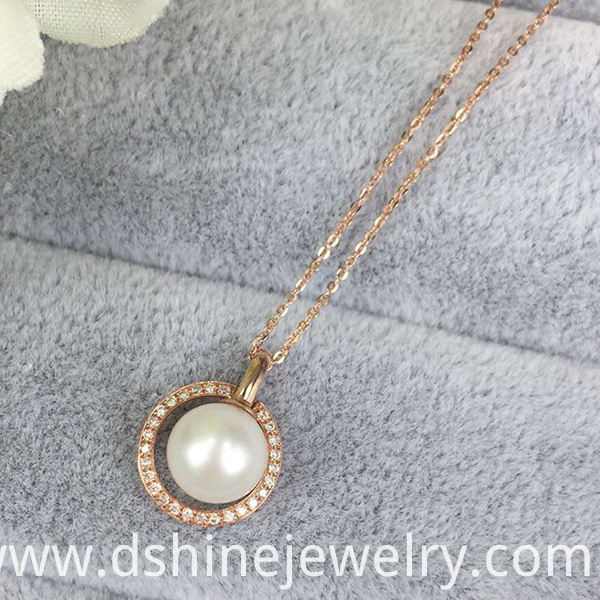 Chain Necklace With Pearl Pendnat