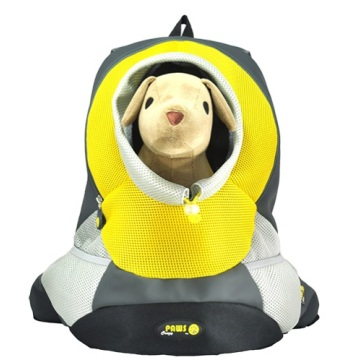 Yellow XLarge PVC and Mesh Pet Backpack