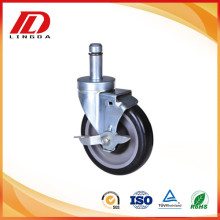 High Quality Industrial Factory for Grip Ring Stem Casters 5'' grip ring caster with brake supply to Benin Suppliers