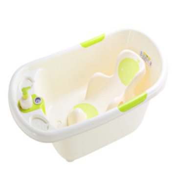 Infant Plastic Bathtub With Thermometer&Bathbed