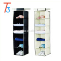 6 tier multipurpose hanging closet shoes organizer