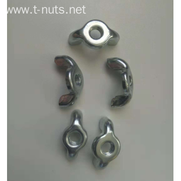 White/color Zinc Plated Wing Nut