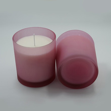 Soy Wax Scented Candle with frosted glass holder