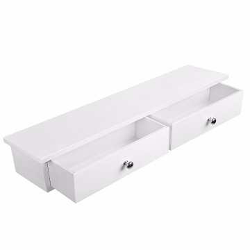 China for Floating Wood Shelves Floating Wall Shelf with 2 Drawers Hallway Storage Shelf MDF Floating Wall Shelf with 2 Drawers Hallway Storage Shelf MDF supply to Zambia Wholesale