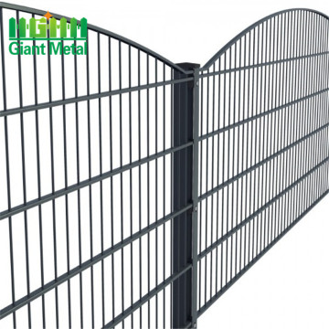 factory supply pvc coated double wires welded mesh fence