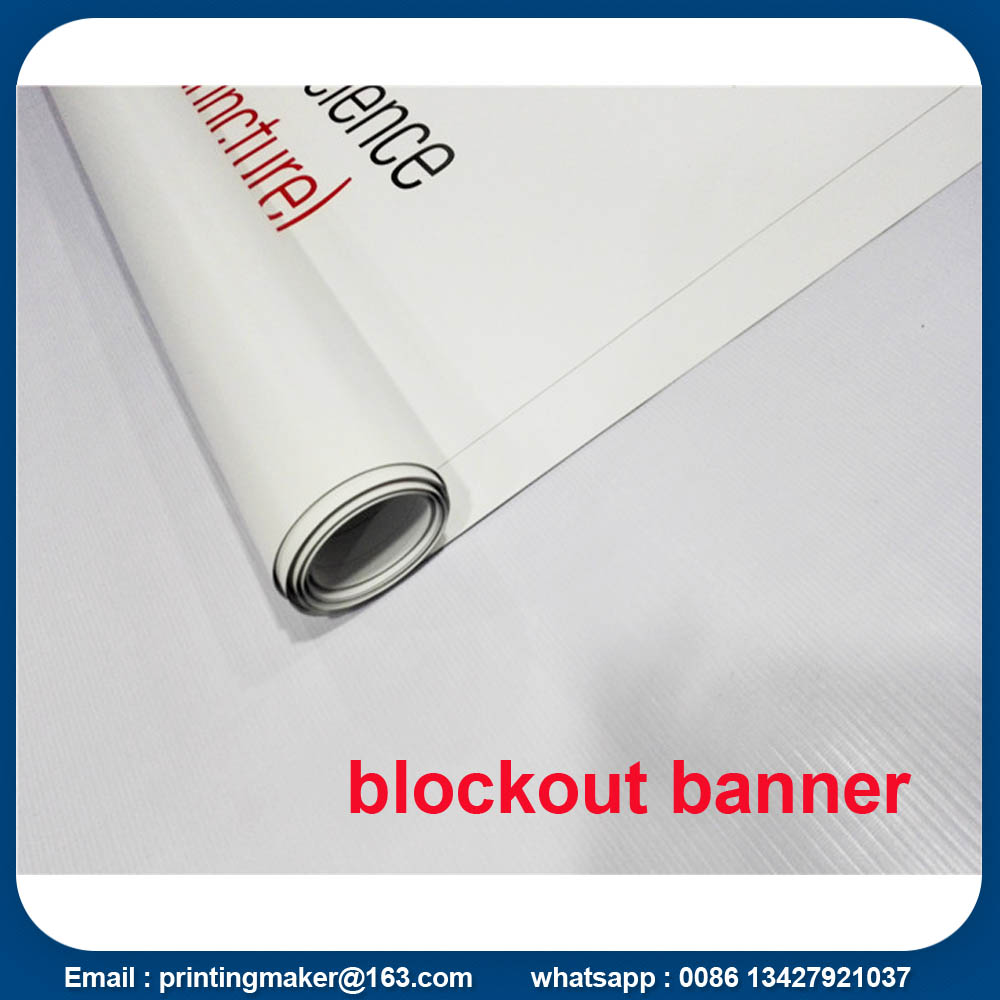 Double Sides Block Out Banner