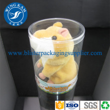 China New Product for Pet Plastic Cylinder Tube Packaging Curl Edges Tube for Packing Toy export to Cameroon Factory