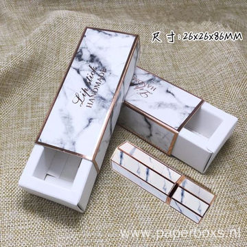 Custom Printing Marble Tuck Top Box For Lipstick