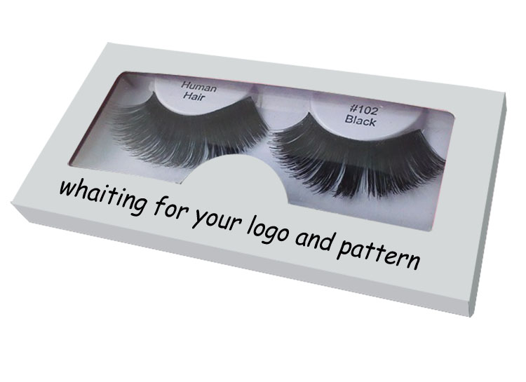 eyelashes packaging with window