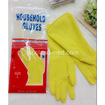 I-Yellow Rubber i-100% Latex Household Gloves