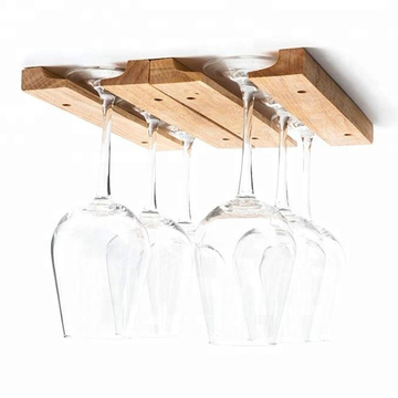 1 Pack Brown Wood Wine Glass Holder Rack