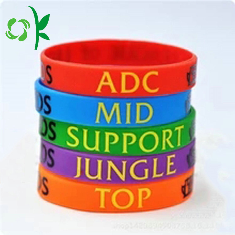 Wonderful Color Lettler Silicone Wristbands