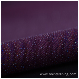 Customized colorful double-dot  fusible woven interlining