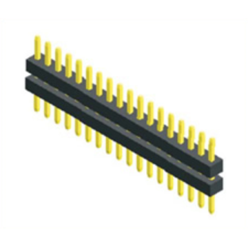 Reliable for 1.0Mm Male Header Pins 1.00mm Pitch Single Row Straight Double Plastic supply to Romania Exporter