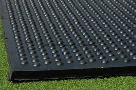 Dome rubber mat