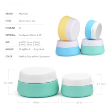 Hot selling attractive for Offer Silicone Travel Jar,Women Silicone Cosmetic Jar,Travel Kit Mini Silicone Jars From China Manufacturer 20ml Silicone Cream Cosmetic Jar supply to Portugal Manufacturer