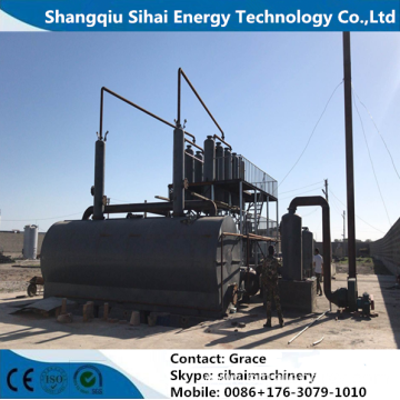 Waste Plastic Oil Distillation Plant With CE