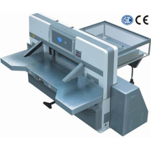 Digital display double worm wheel double guide paper cutting machine