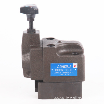 BUCG Hydraulic Pressure Unloading Relief Valves