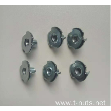White Zinc Plated Three Prong Nuts