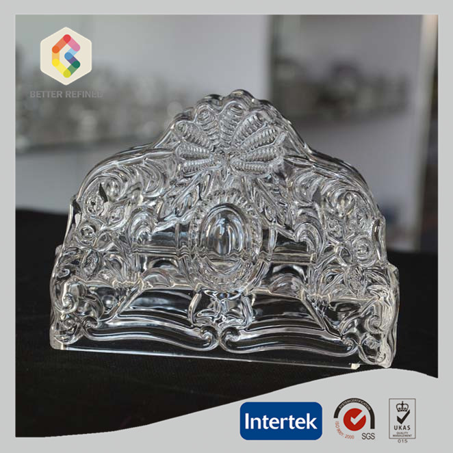 Clear Glass Napkin Holder