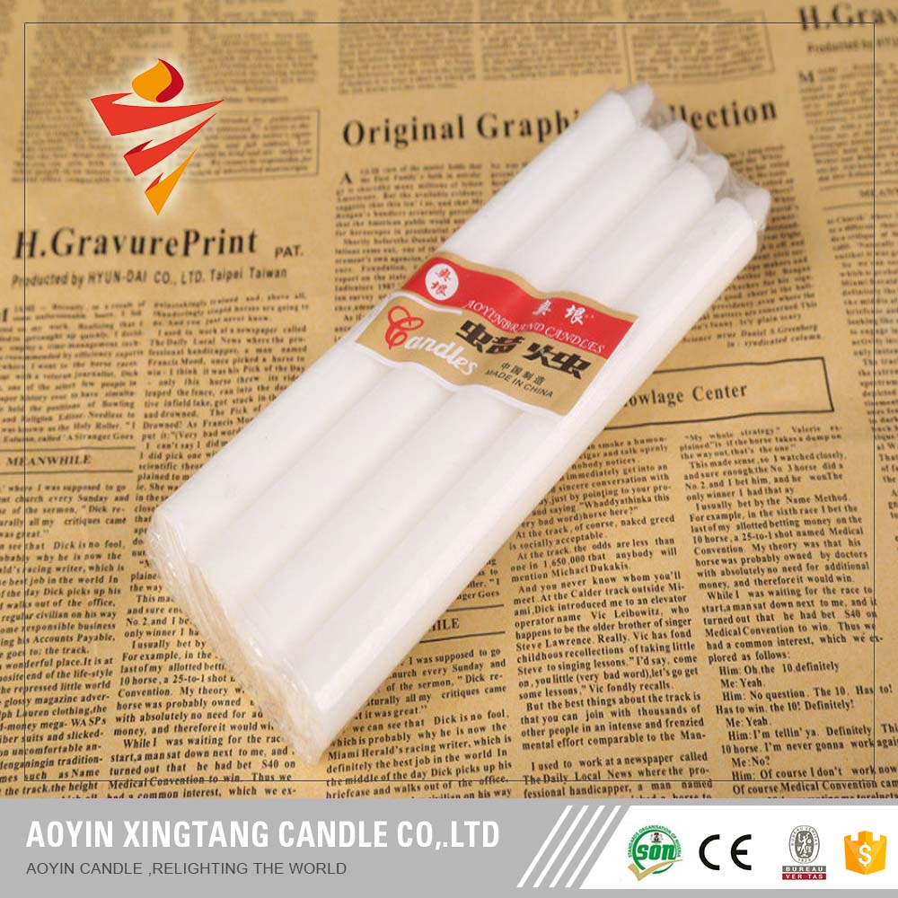 1.1*11cm white stick candles