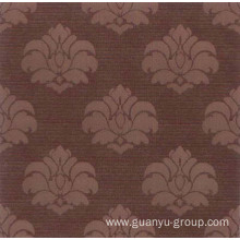 Flower Pattern Metallic Glazed Rustic Tile
