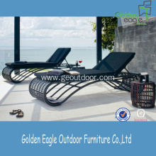 Hot sale for Pe Rattan Sun Lounger PE Rattan & Aluminum Folding Garden Recliner Lounger export to Poland Factories