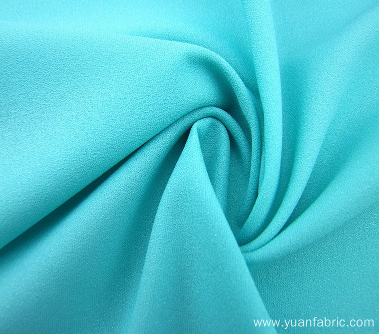 Wholesale Woven Plain Dyed Blue Stretch Fabric Garment
