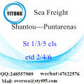 Shantou Port LCL Consolidation To Puntarenas